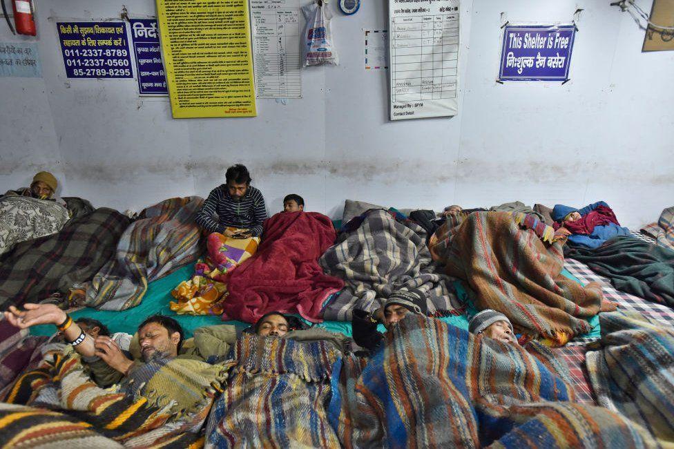 Delhi có khoảng 193 nơi trú ẩn ban đêm dành cho người vô gia cư trong thành phố - Ảnh: Getty Images