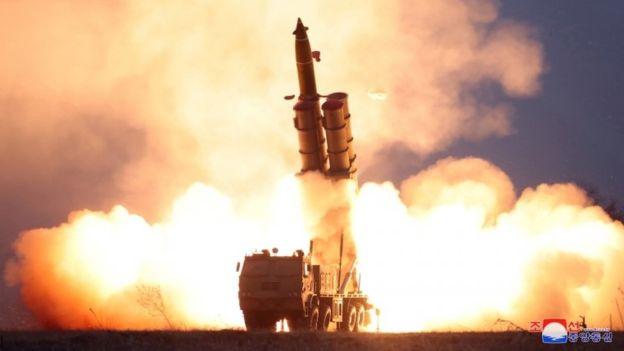 Triều Tiên nhiều lần thử nghiệm vũ khí trong năm 2019 để tạo sức ép với Mỹ - Ảnh: Reuters.