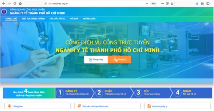 Người bệnh có thể thực hiện đăng ký tài khoản và nộp hồ sơ trực tuyến tại nhà hay bất cứ đâu bằng máy tính hoặc các thiết bị có kết nối internet.