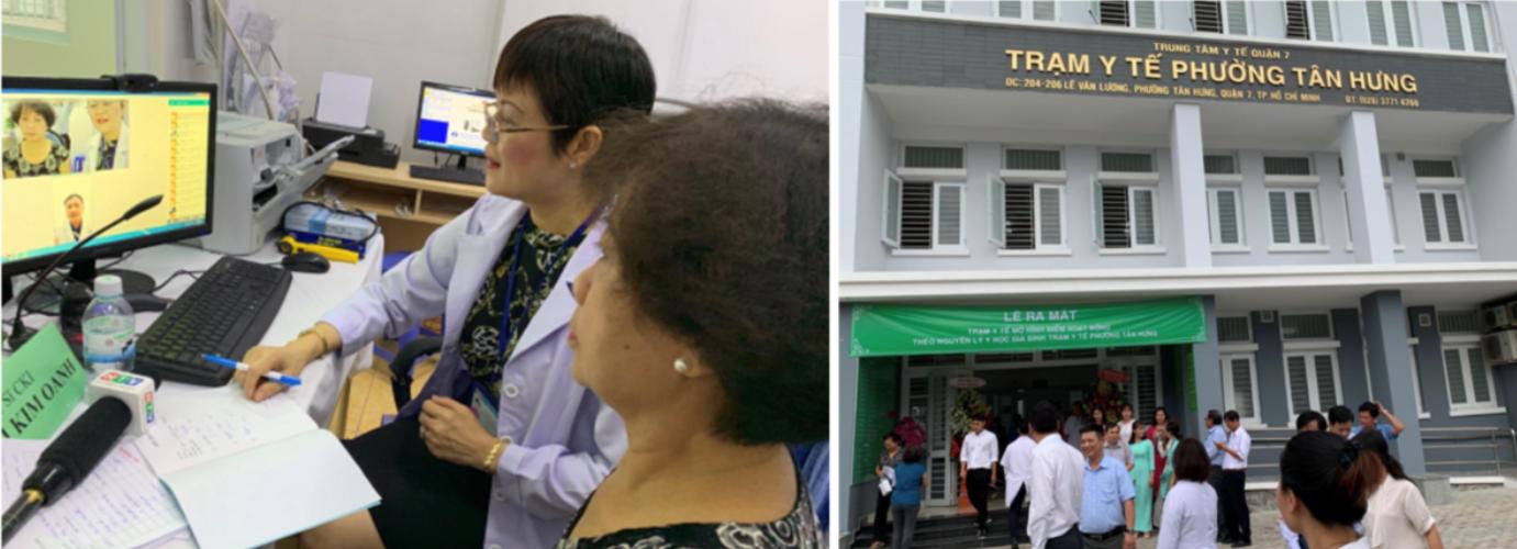 Bác sĩ của Trạm Y tế phường Tân Hưng, quận 7 kết nối với bác sĩ trong thành phố