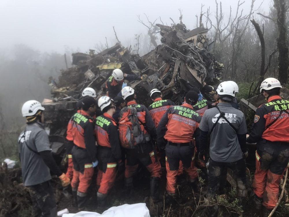 Hiện trường vụ tai nạn - Ảnh: Sở cứu hỏa quốc gia Đài Loan