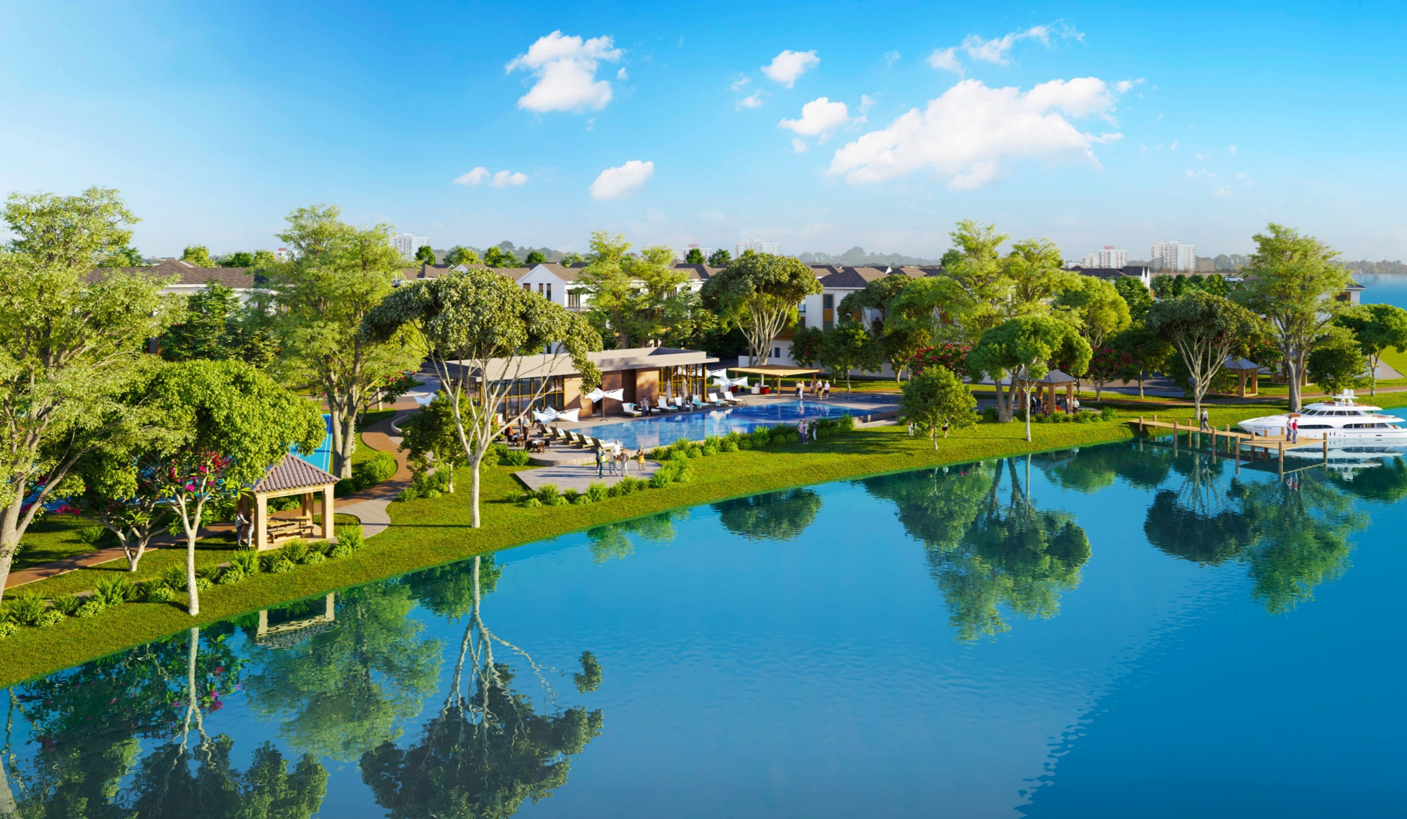 Aqua City dành đến 70%  diện tích cho không gian xanh và tiện ích nội khu đẳng cấp
