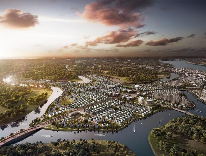 """The Elite nằm giữa khu đô thị sinh thái thông minh Aqua City mang nét """"tinh hoa trong từng nhịp sống"""" cho cư dân nơi đây"""