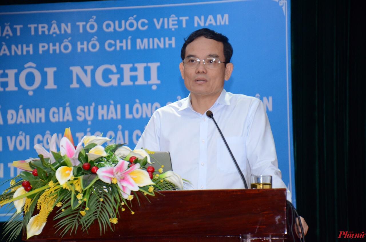 Phó bí thư thường trực Thành ủy TPHCM Trần Lưu Quang đánh giá cao cuộc khảo sát độc lập của UBMTTQVN TPHCM