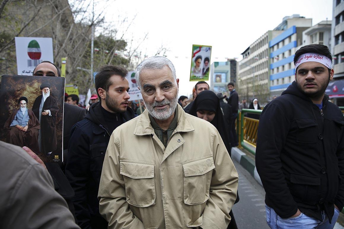 Tướng Qassem Soleimani, lãnh đạo lực lượng Quds ưu tú của Iran - Ảnh: AP.