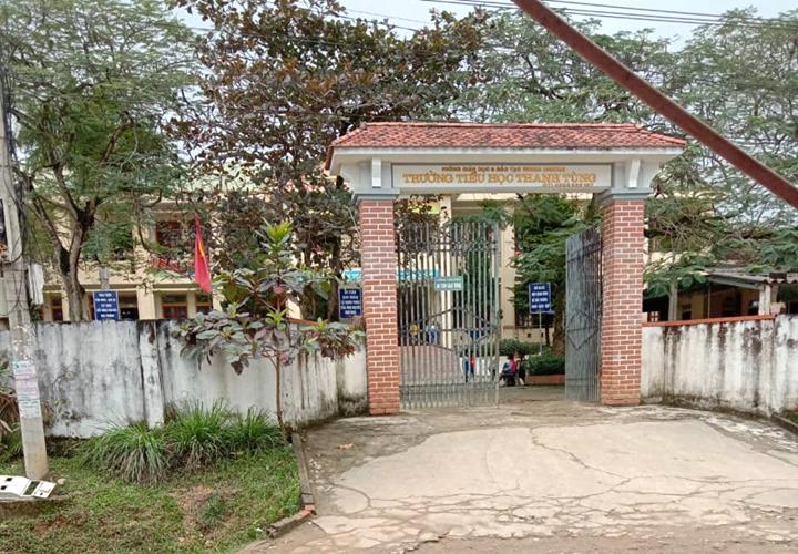 Trường tiểu học Thanh Tùng - nơi xảy ra sự việc