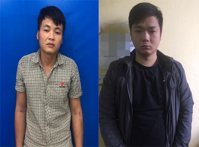 Lê Văn Anh (trái) và Đặng Quang Huy