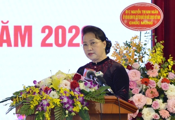 Chủ tịch Quốc hội Nguyễn Thị Kim Ngân phát biểu chỉ đạo tại Hội nghị.