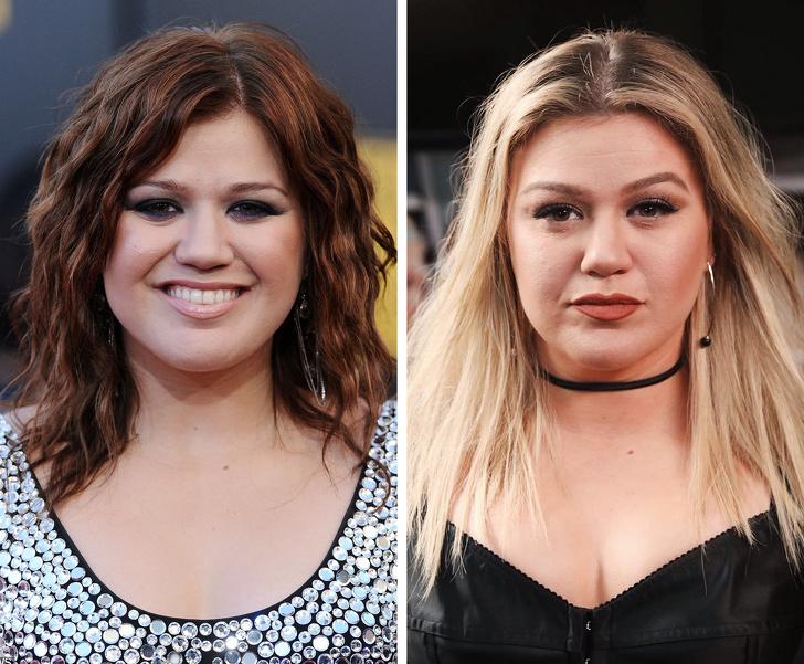 Kelly Clarkson sau 10 năm đã giảm cân và có sự cải thiện về ngoại hình, gương mặt thon gọn hơn trước và theo đuổi phong cách cá tính.