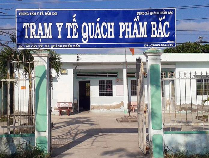 Một trạm y tế xã của huyện Đầm Dơi.