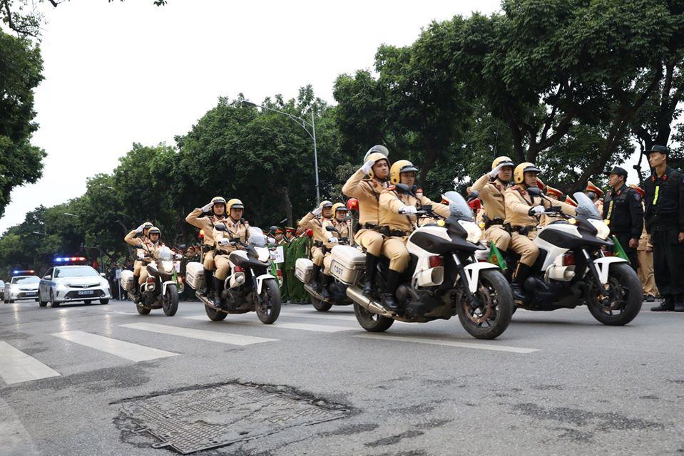 Lực lượng CSGT ra quân tại lễ phát động năm An toàn giao thông 2020