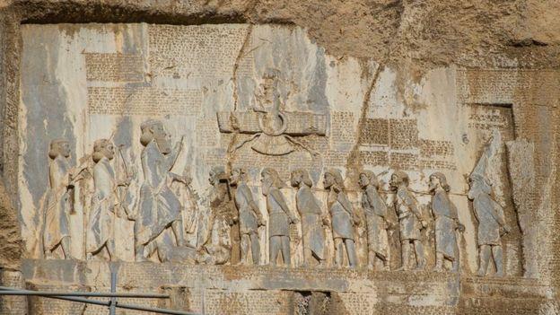 Persepolis, thủ đô của Đế chế Achaemenid Ba Tư cổ đại, với một số hiện vật từ thế kỷ thứ 6 trước Công nguyên