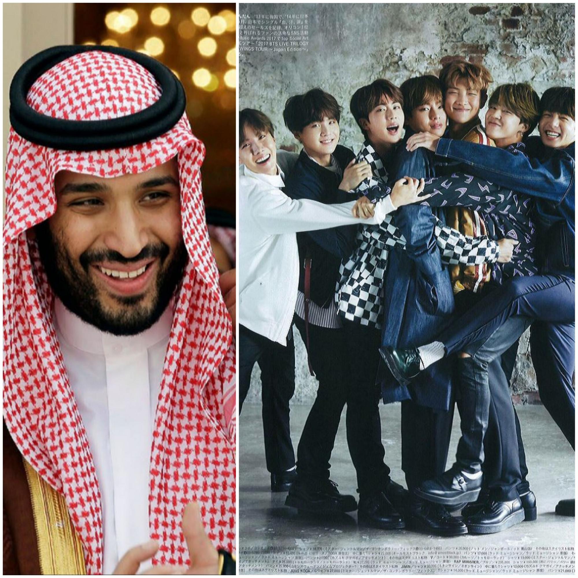 Thái tử Ả Rập Saudi - Mohammed bin Salman bày tỏ mong muốn BTS trình diễn nhiều hơn tại quốc gia Trung Đông