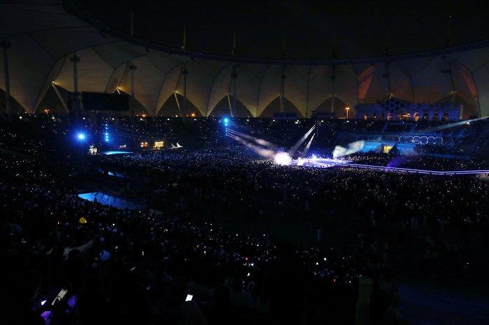 Concert của BTS tại Ả Rập Saudi ngày 11/10/2019 thu hút gần 30.000 khán giả.