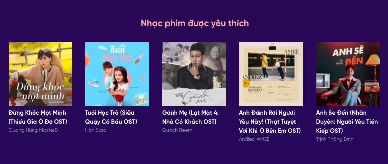 Ca khúc Gánh mẹ vẫn nằm trong Top 5 đề cử hạng mục Nhạc phim được yêu thích