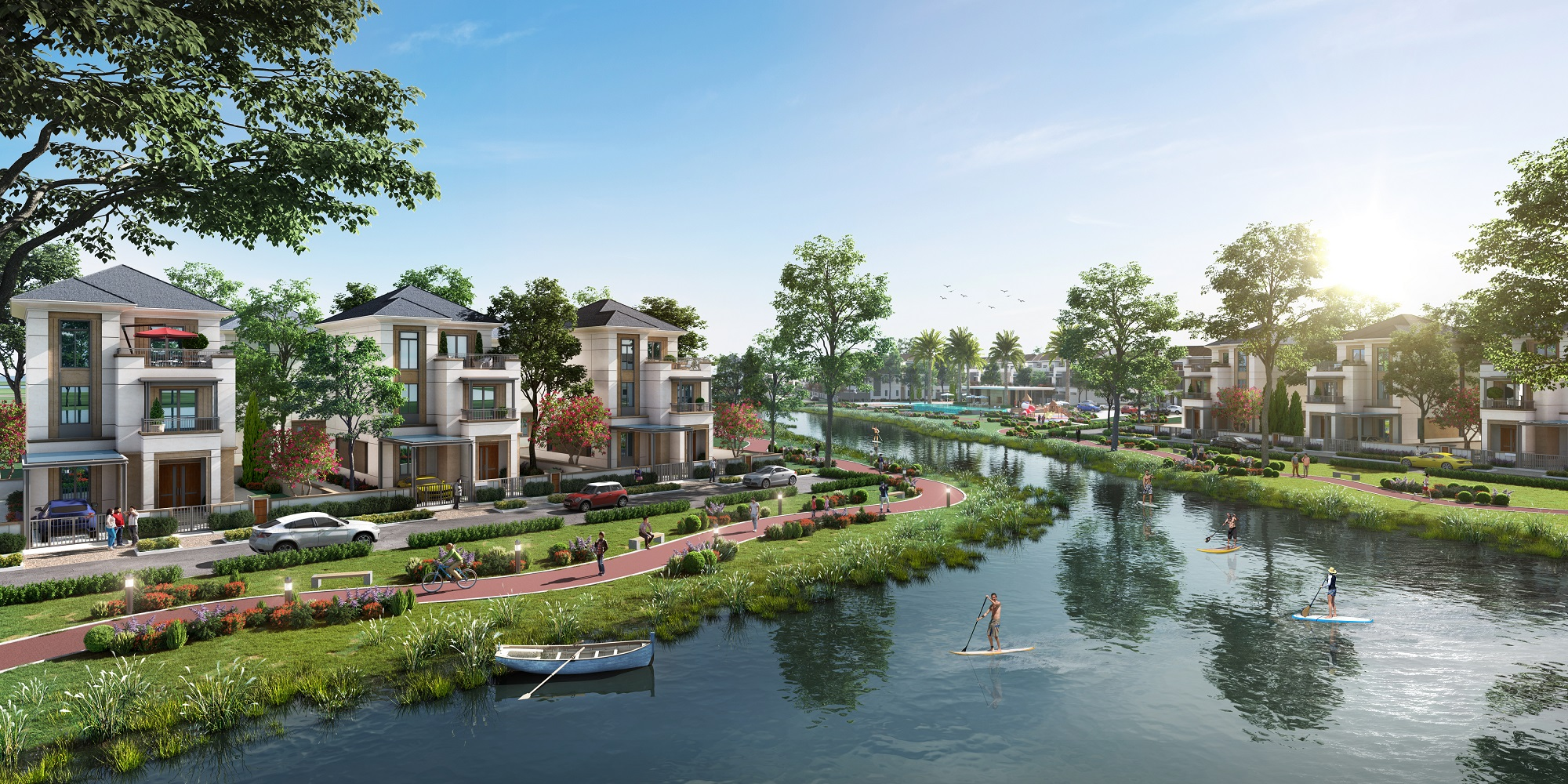 Thừa hưởng yếu tố thiên nhiên hiện hữu với ba mặt giáp sông cùng chuỗi tiện ích hoàn chỉnh, Aqua City mang đến không gian sống lý tưởng cho cư dân