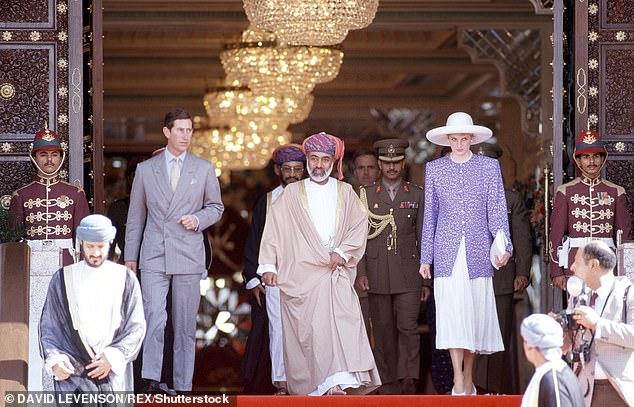 Hoàng tử Charles và Công nương Diana cùng với Quốc vương Qaboos vào tháng 11/1986.