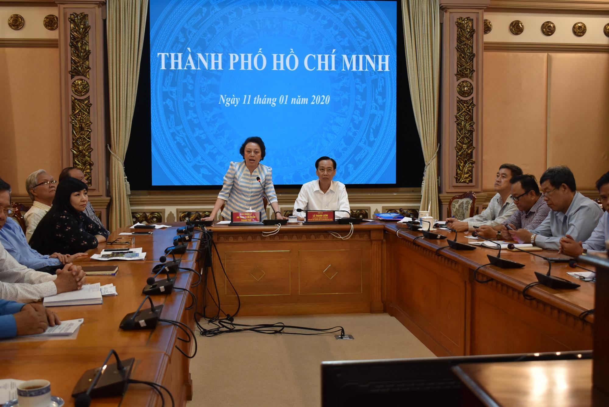 Bà Phạm Khánh Phong Lan - Trưởng ban Quản lý An toàn thực phẩm TPHCM mong tiếp tục cho phép thực hiện những nhiệm vụ đã bắt đầu liên quan đến an toàn thực phẩm