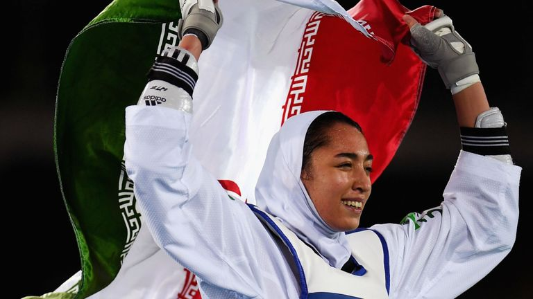Alizadeh giành huy chương đồng môn taekwondo trong Thế vận hội Rio 2016 - Ảnh: Sky Sports