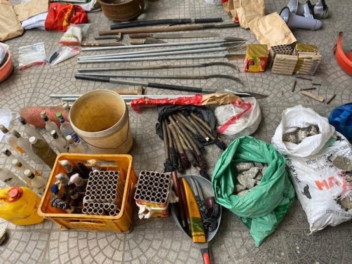 Số vũ khí thu được tại nhà của Lê Đình Kình