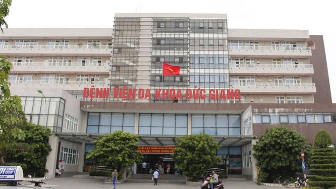 BV Đa khoa Đức Giang (Hà Nội), nơi xảy ra sự việc.