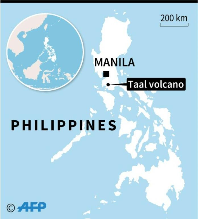 Núi lửa Taal nằm cách khoảng 70km từ thủ đô Manila.