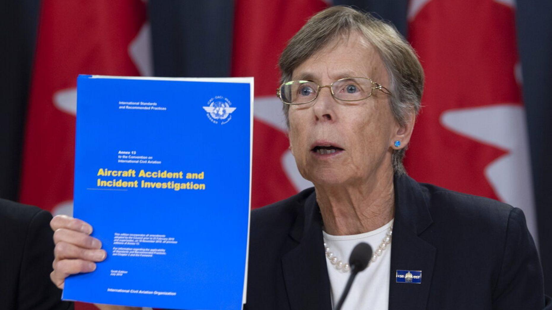 Chủ tịch Ủy ban An toàn Giao thông Canada Kathy Fox. Ảnh: AP