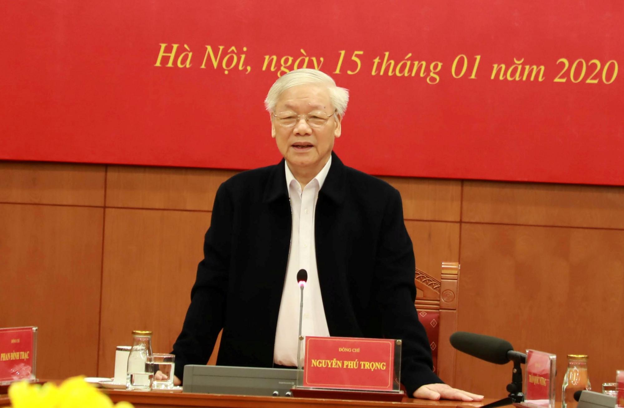 Tổng Bí thư, Chủ tịch nước Nguyễn Phú Trọng phát biểu kết luận phiên họp