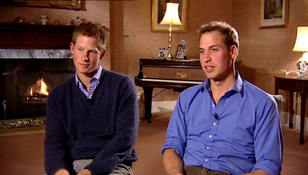 Hai anh em hoàng tử Anh trong một chương trình truyền hình.