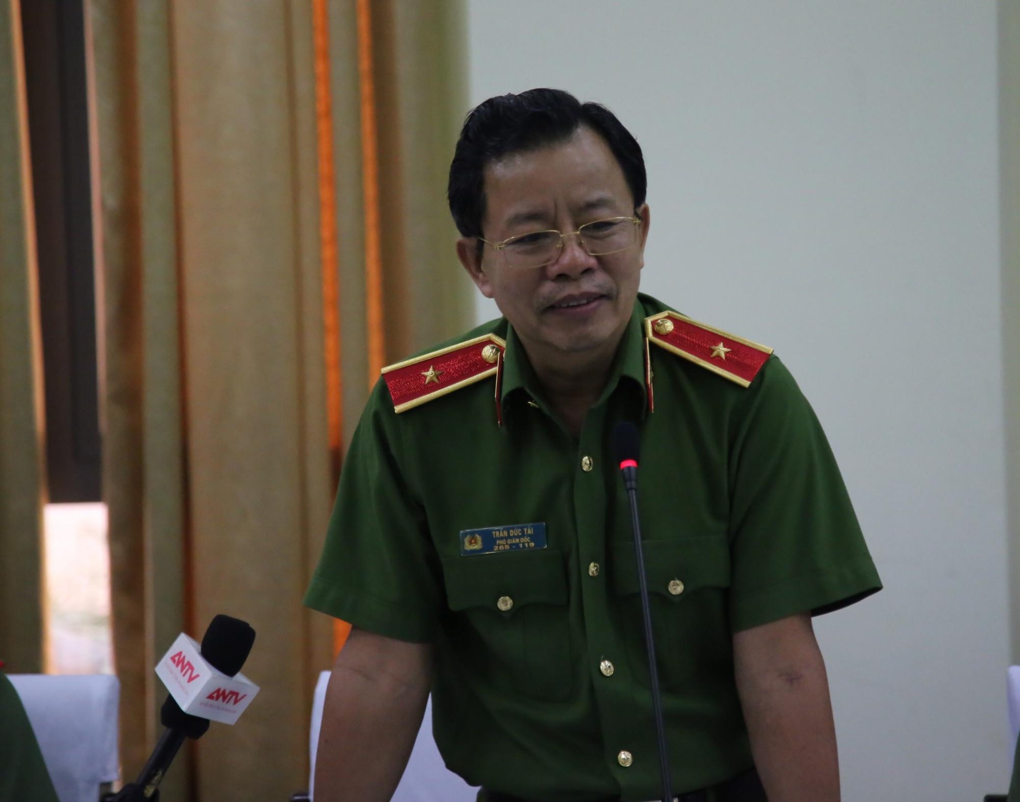 Phó giám đốc Công an TPHCM Trần Đức Tài phát biểu chiều 16/1