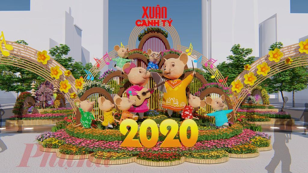 Đường hoa Nguyễn Huệ 2020 sẽ chính thức mở cửa và phục vụ người dân và du khách từ từ 19h00 ngày 22/1 đến 21h00 ngày 28/1