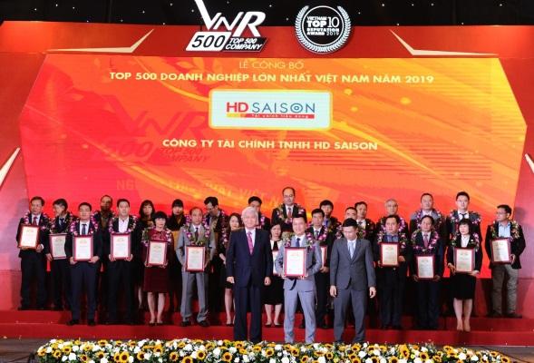 Năm thứ 5 liên tiếp HD SAISON nhận danh hiệu VNR500