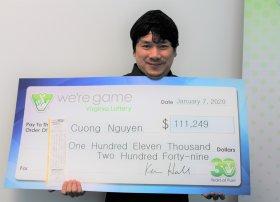 Cuong Tan Nguyen. Ảnh: Virginia Lottery