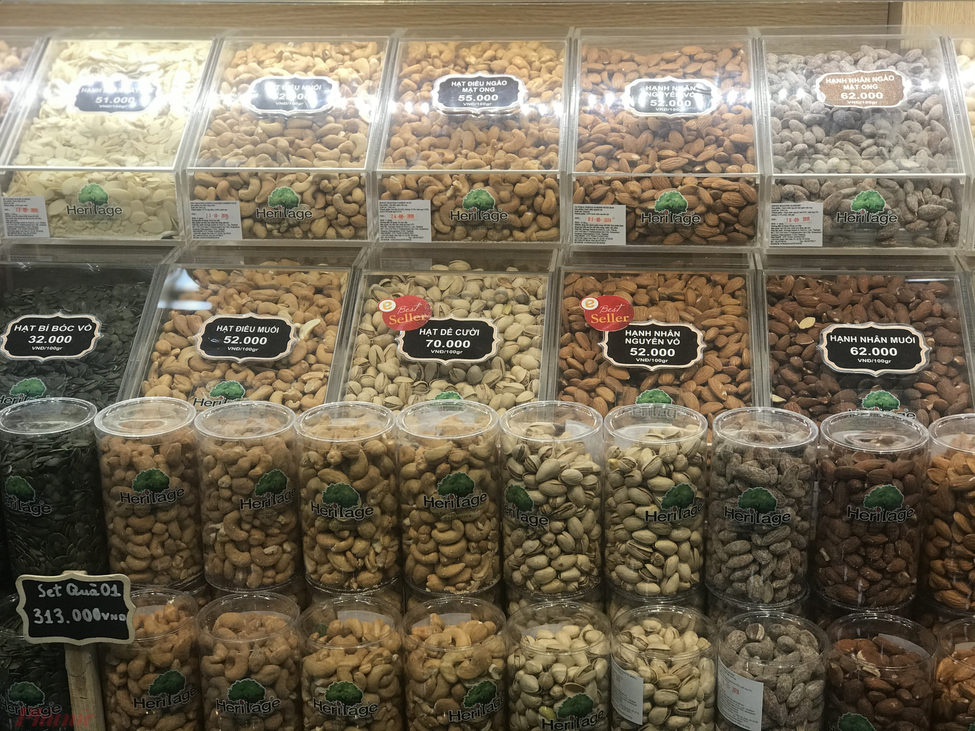 Giá bán một số loạt hạt tại siêu thị
