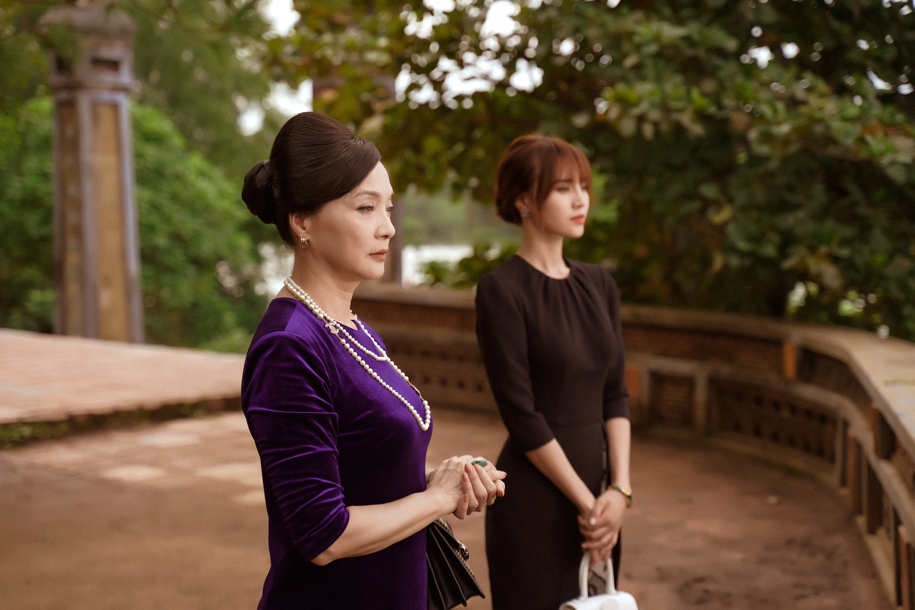 Hình ảnh của NSND Lê Khanh trong phim.