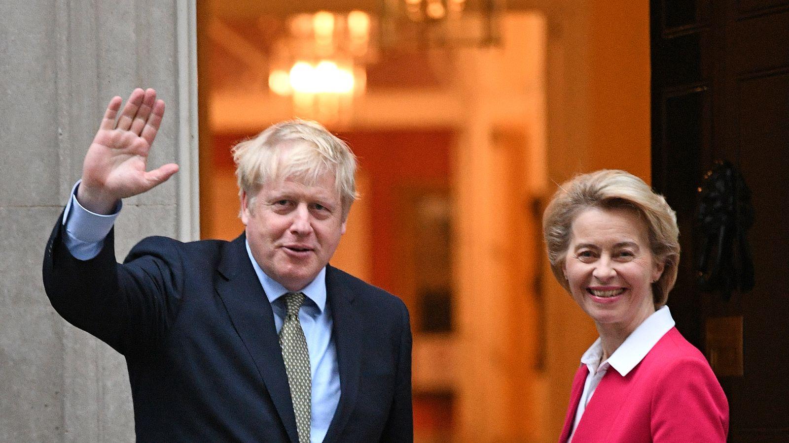 Ông Boris Johnson đã gặp Chủ tịch Ủy ban EU, bà Ursula von der Leyen tại phố Downing hồi đầu tháng 1/2020.