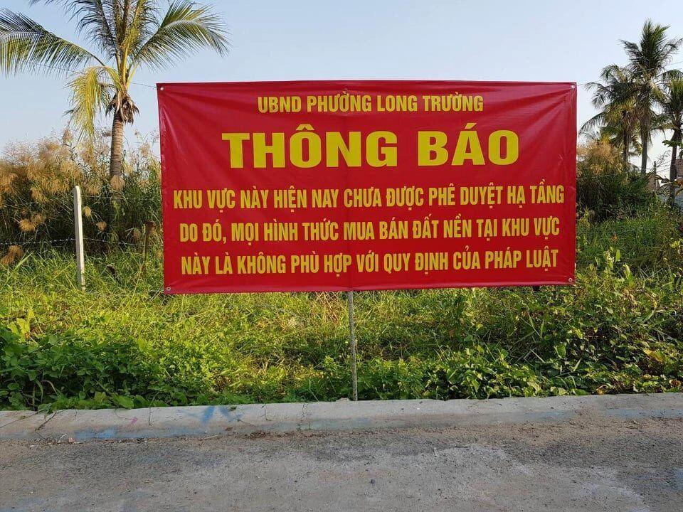 UBND quận 9 cấm bảng cảnh báo dự án