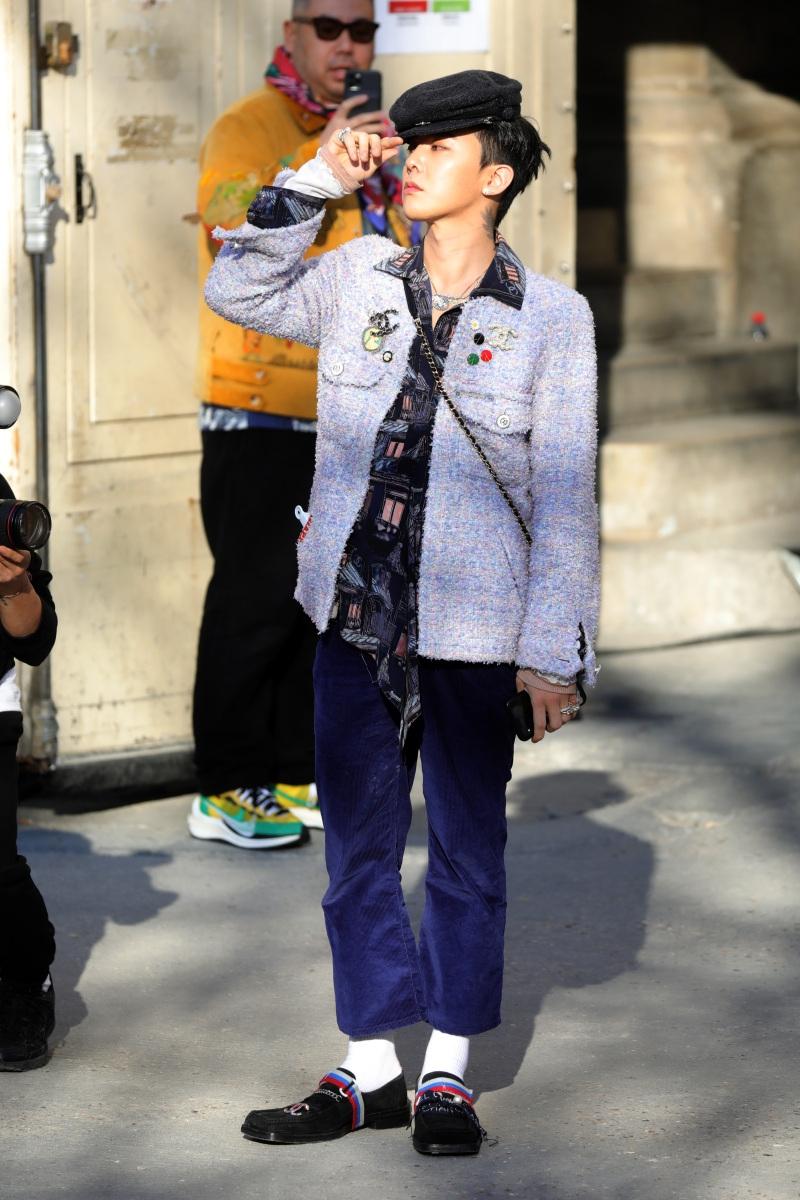 G-Dragon sành điệu tại show thời trang.