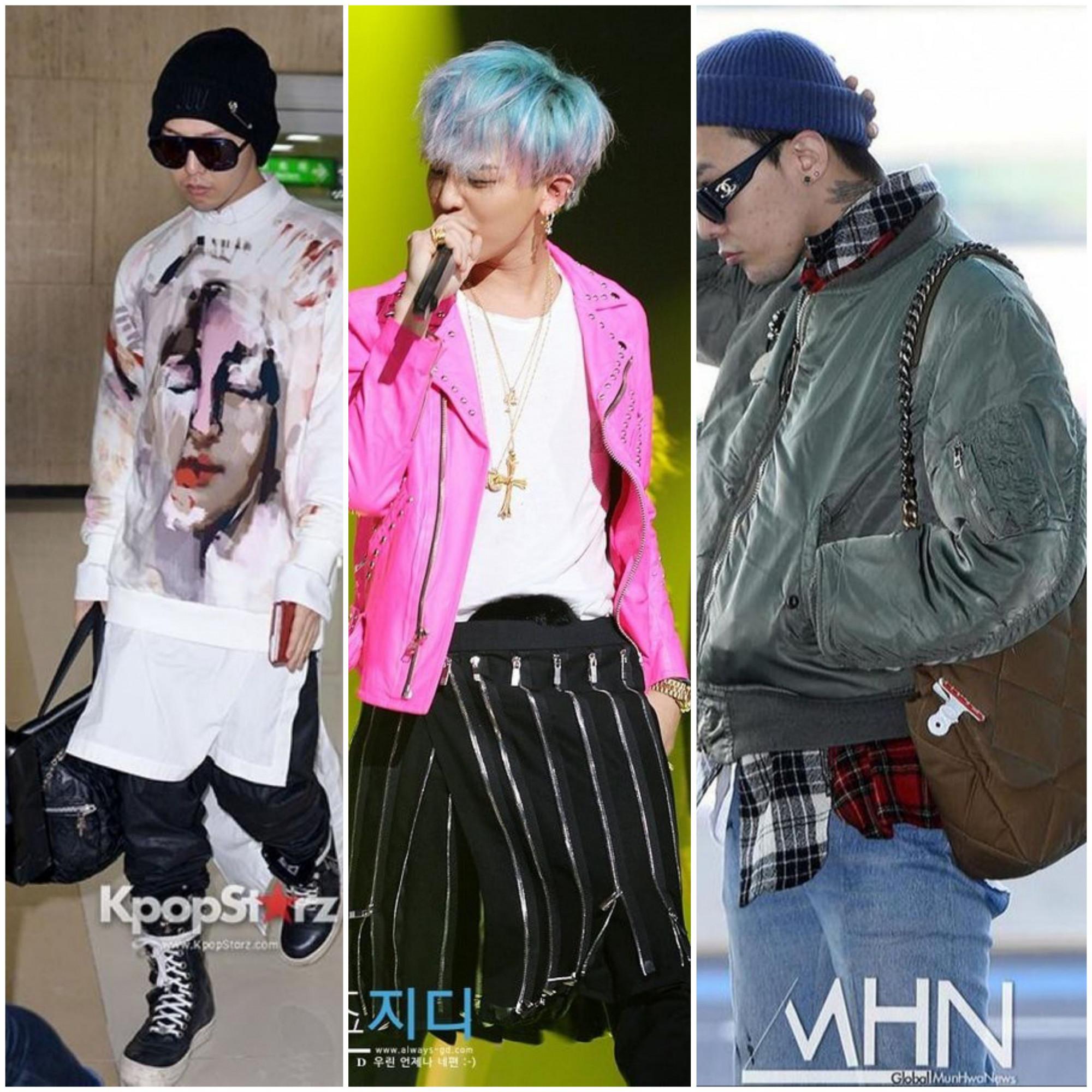 Trưởng nhóm Bigbang nhiều lần diện túi xách và trang phục nữ trong các sự kiện.