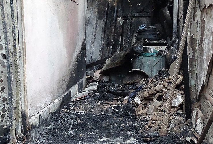 Ngôi nhà bị đốt cháy rụi khiến 5 người tử vong
