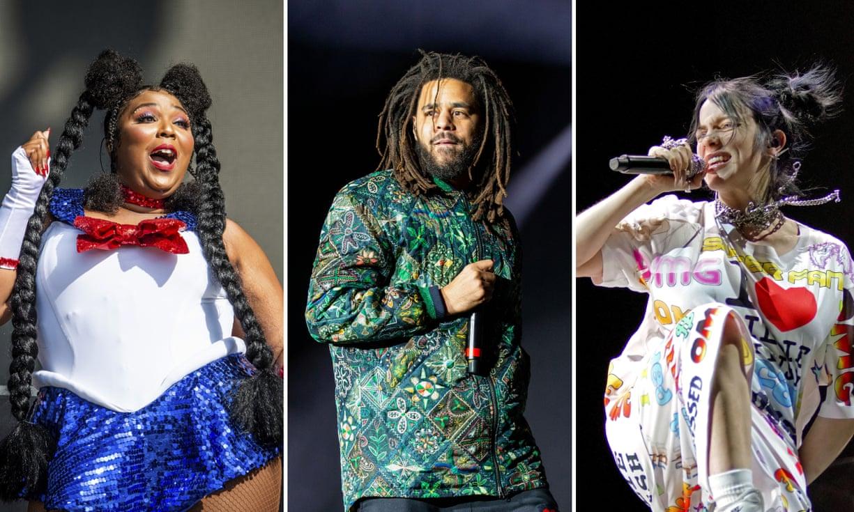 Từ trái sang: Lizzo, J Cole, Billie Eilish nhận được nhiều đề cử tại Grammy