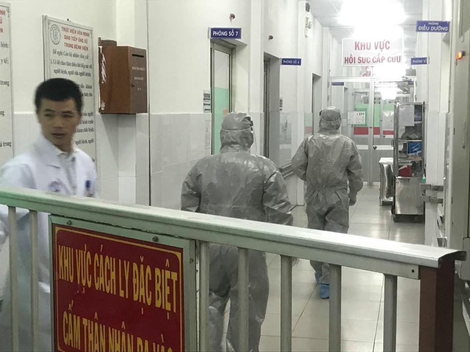 Khu vực cách ly người Trung Quốc nhiễm virus corona tại BV Chợ Rẫy