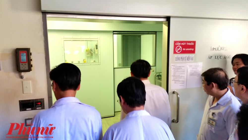 Phòng cách ly áp lực âm tại BV Nhi đồng 1