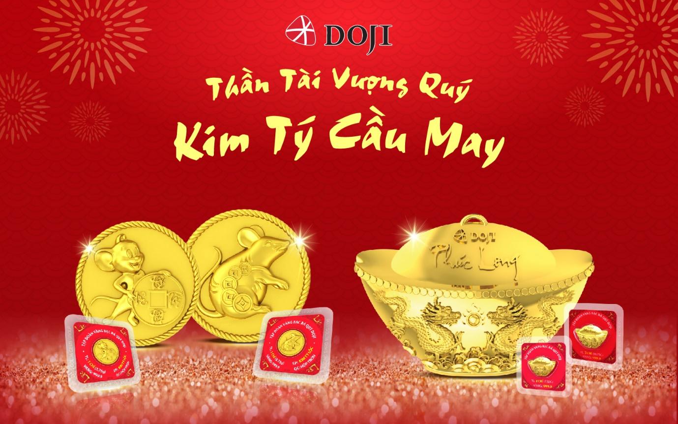 280.000 sản phẩm của DOJI đã được chuẩn bị cho ngày Thần Tài 2020