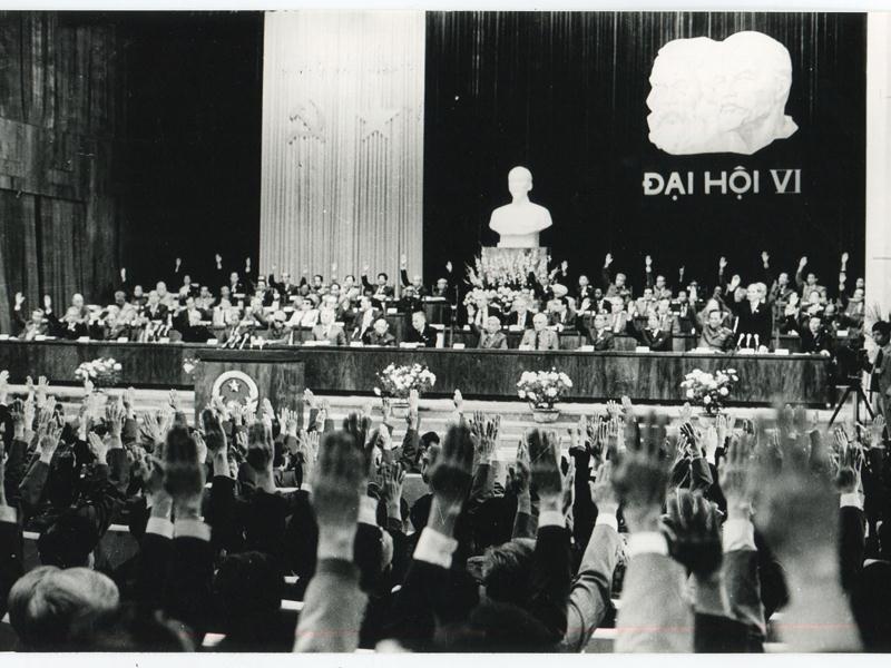 Đại hội VI (từ ngày 15 đến 18/12/1986 ) - đại hội khởi xướng và lãnh đạo công cuộc đổi mới.