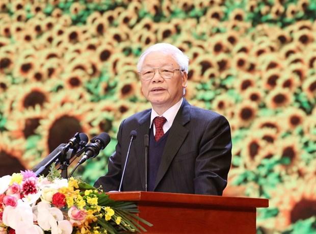 Tổng Bí thư, Chủ tịch nước Nguyễn Phú Trọng đọc Diễn văn kỷ niệm 90 năm Ngày thành lập