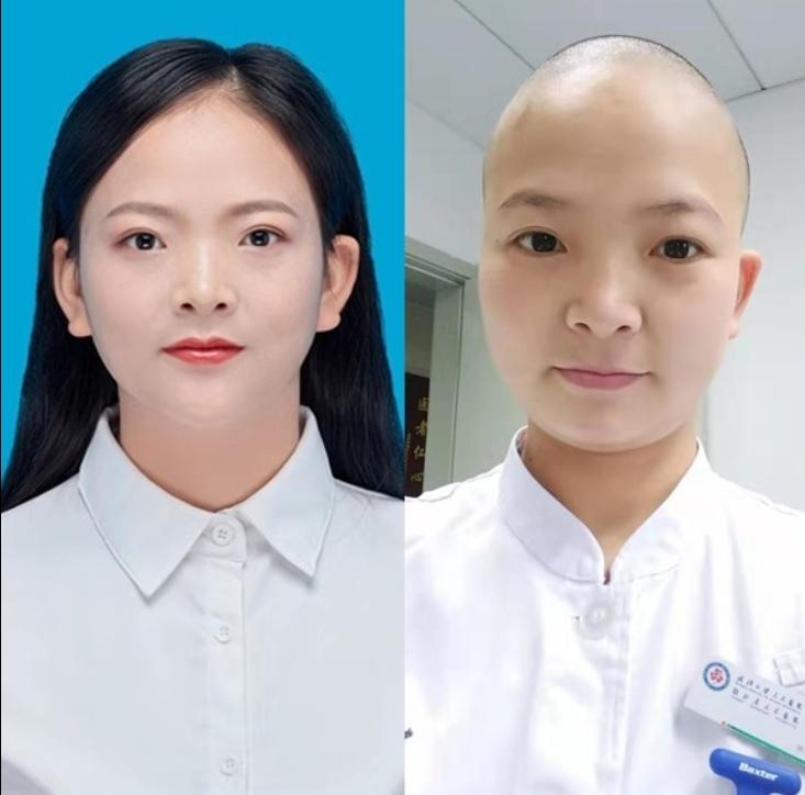 Y bác sĩ nữ, thay phiên cắt tóc cho nhau để tránh lây nhiễm virus khi tiếp xúc với bệnh nhân.