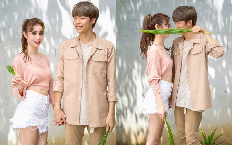 Trang phục năng động, trẻ trung của cặp đôi ''chị-em''  này sẽ là gợi ý  thú vị cho các đôi yêu nhau dịp lễ Valentine.