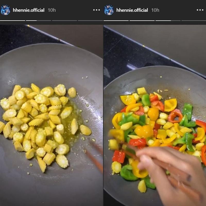 Bắp non xào ướt chuông cũng là một ăn dễ làm và ngon miệng giúp giảm cân.