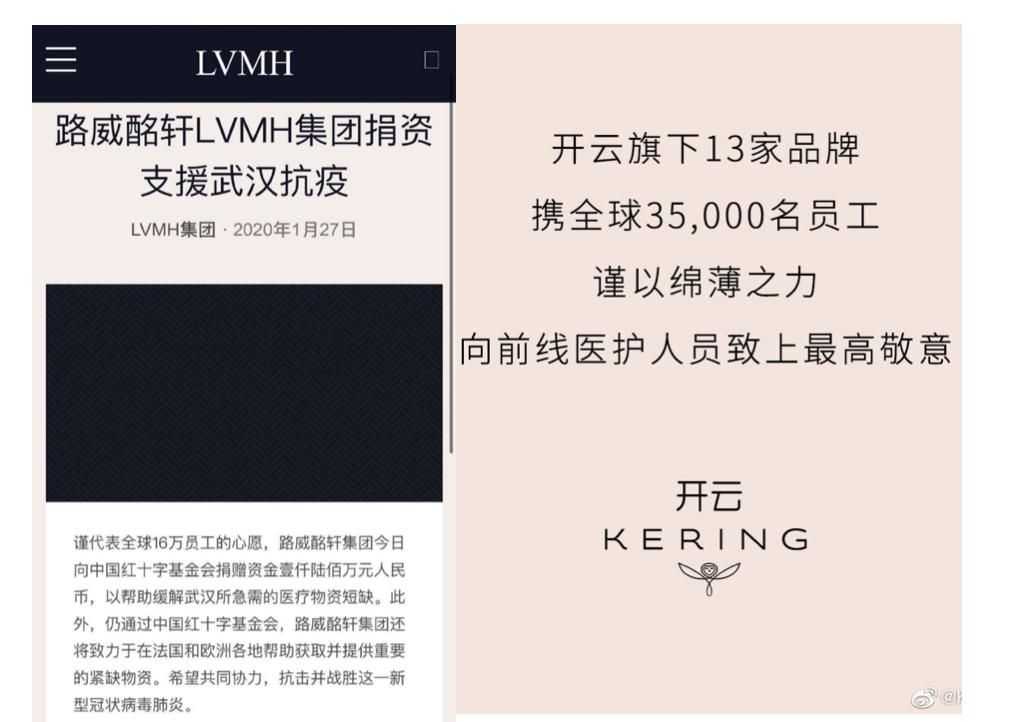 Các thương hiệu thời trang tích cực quyên góp, ủng hộ Vũ Hán trong công tác phòng chống virus corona.